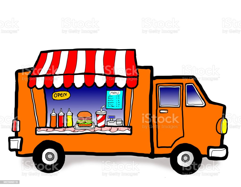 Street Food Truck Stock Vector Art & More Images of Business - iStock