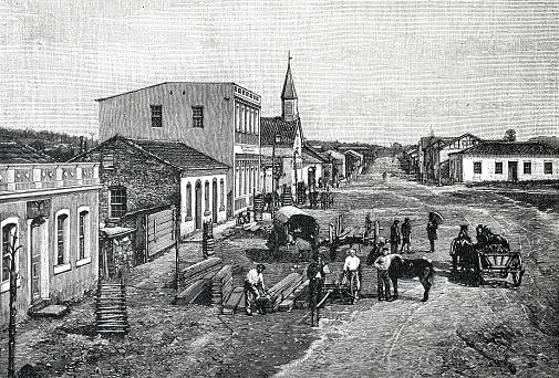 Street in Sant Cruz, Brazil