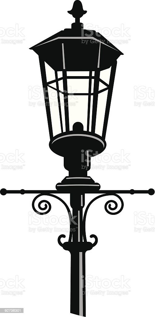 Street Lamp Silhouette royalty-free stock vector art