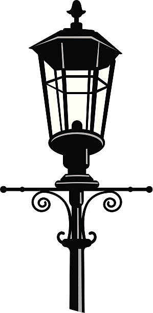 Royalty Free Gas Light Clip Art, Vector Images