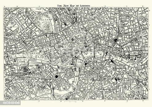 Street Map of Victorian London 1895