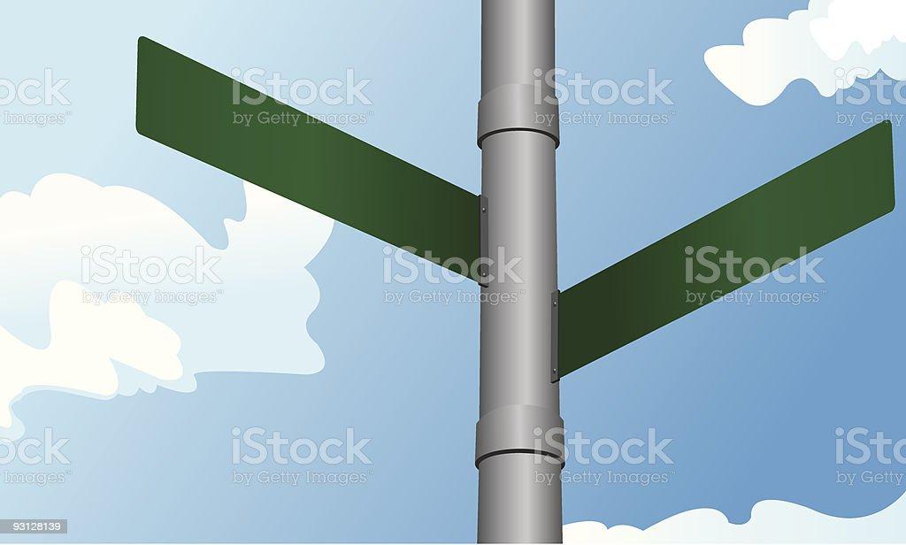 Calle las señales - ilustración de arte vectorial