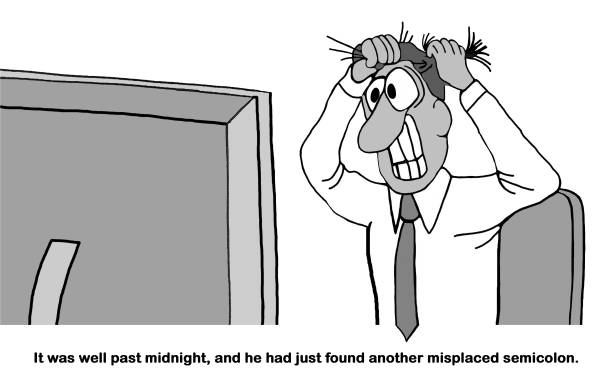 stressed at midnight - paralegal stock illustrations, clip art, cartoons, & icons