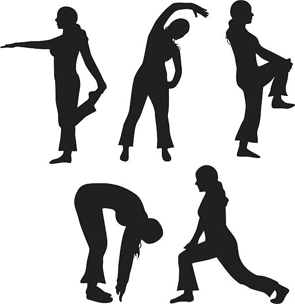 Stretch! vector art illustration