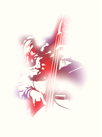 String Bass Player Stock Illustration - Download Image Now