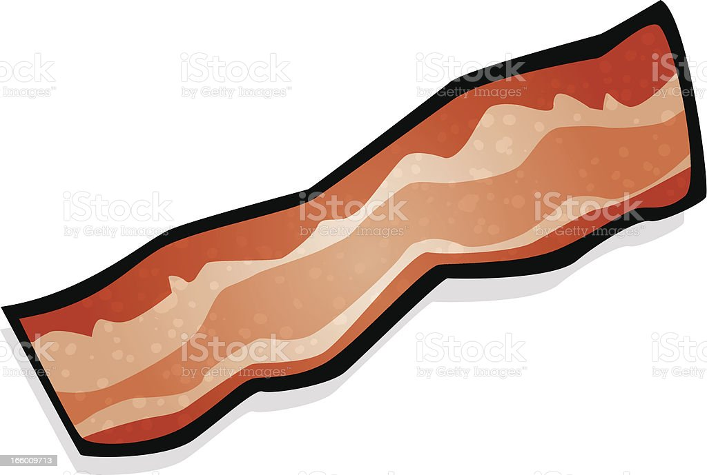 strip of bacon vector art illustration