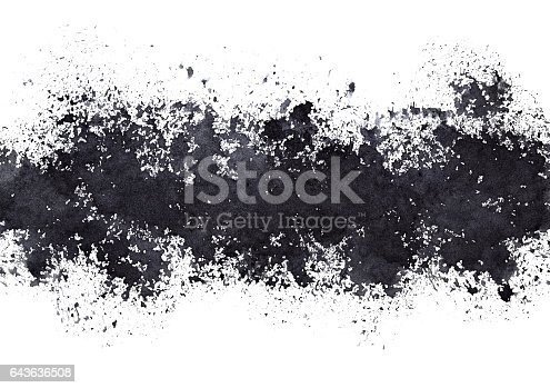 692319500 istock photo Stripe of black paint stains 643636508