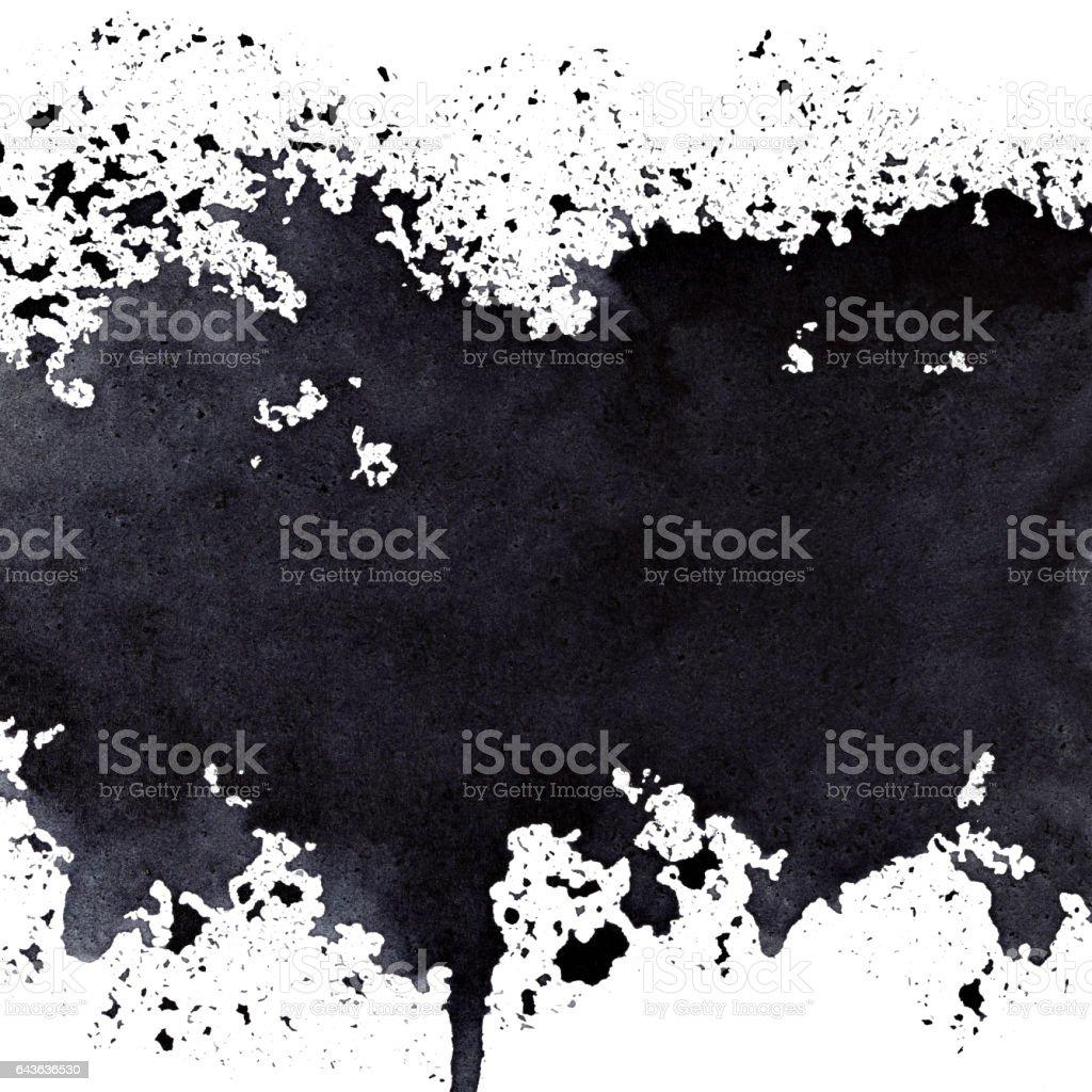 Stripe of spilt black paint vector art illustration