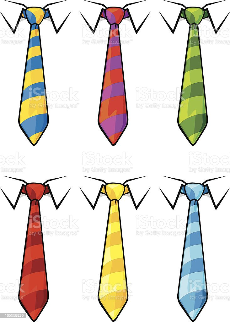 striped ties royalty-free stock vector art