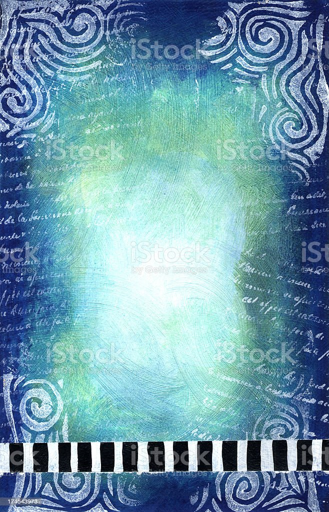 Stripes and Swirls on Painted Blues royalty-free stripes and swirls on painted blues stock vector art & more images of abstract