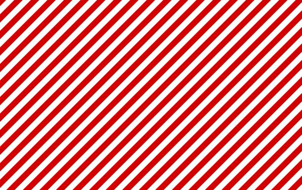 Stripes background diagonal stripes red and white Classic background: Red and white diagonal stripes candy backgrounds stock illustrations