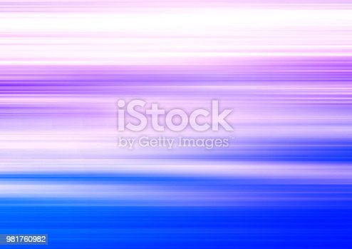 Strips and lines pattern, blue, violet, purple, white, soft blurred gradient. Abstract background. Stylish, artistic horizontal template for modern design