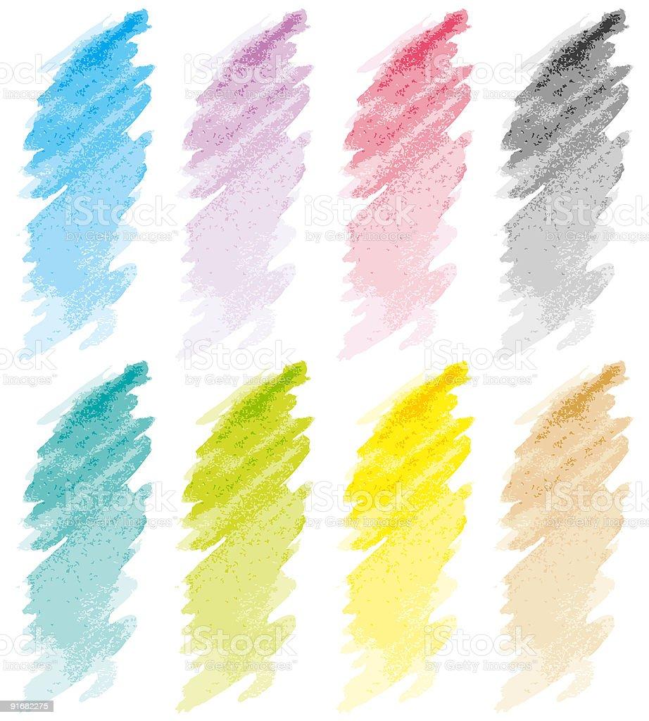 Strokes set pastel royalty-free stock vector art