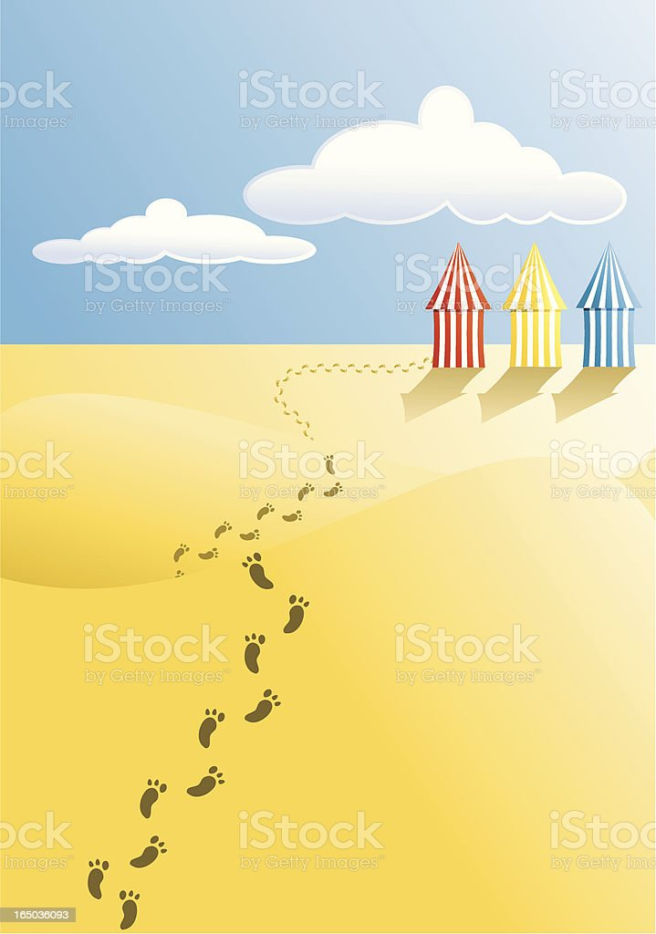 Strolling on the beach royalty-free stock vector art