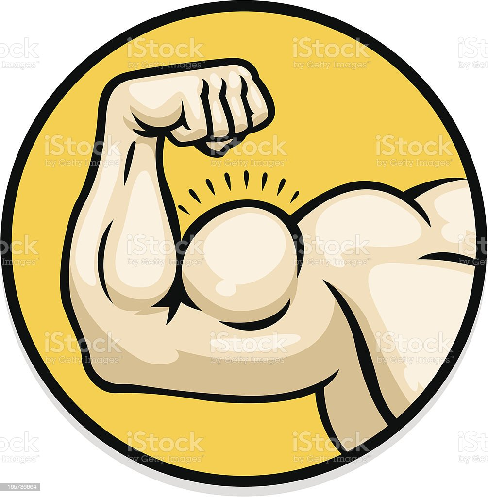 strong arm vector art illustration