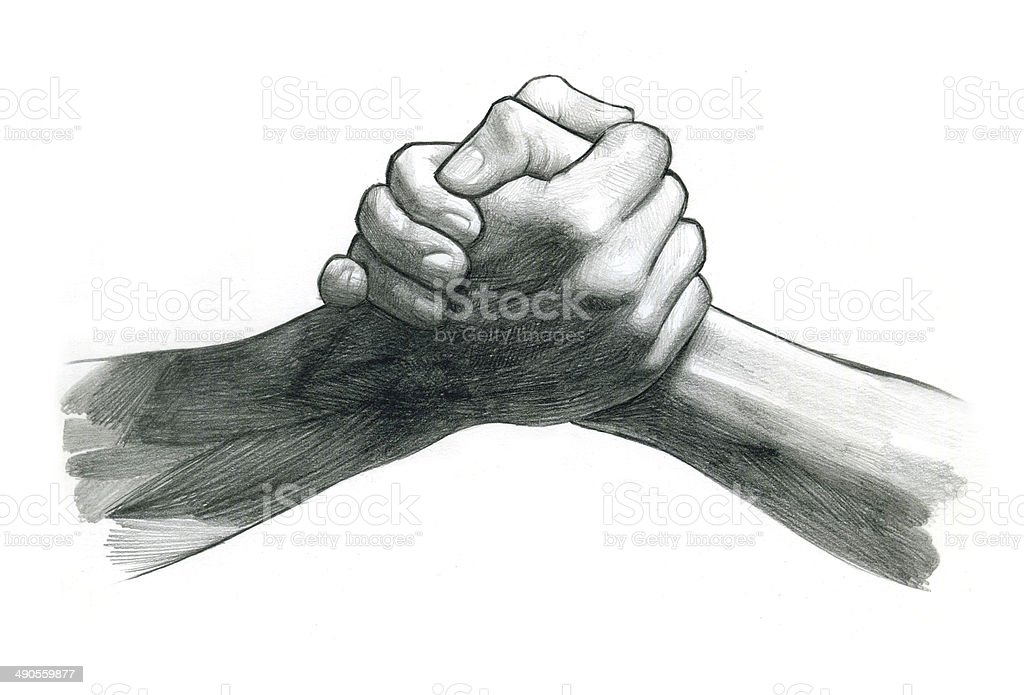 royalty free arm wrestling clip art vector images