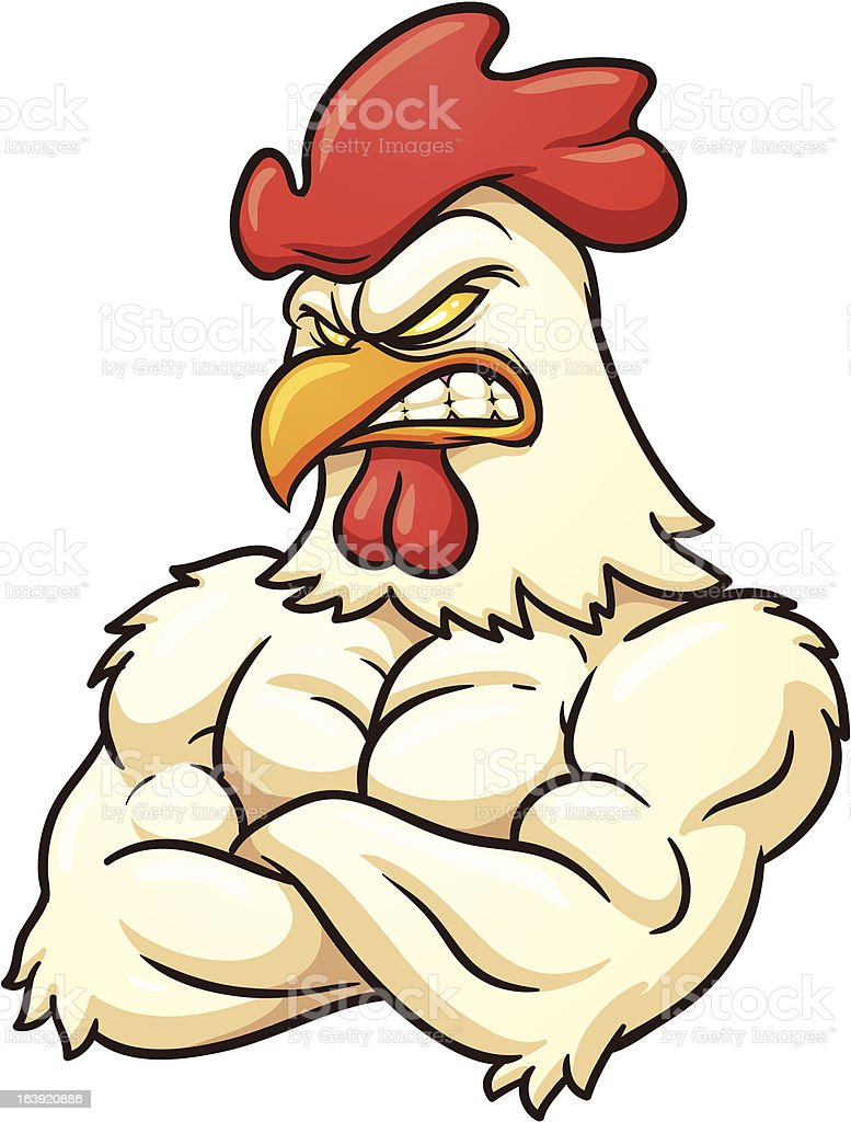 royalty free angry rooster clip art vector images illustrations rh istockphoto com rooster clip art cartoon free rooster clip art pictures free