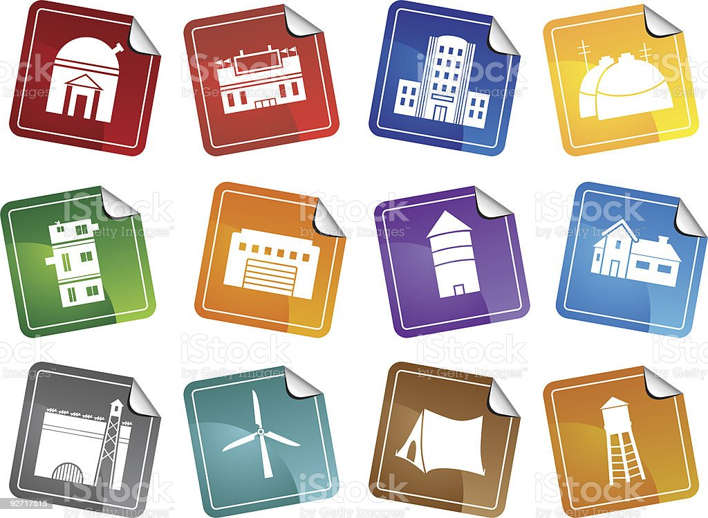Structure Stickers vector art illustration