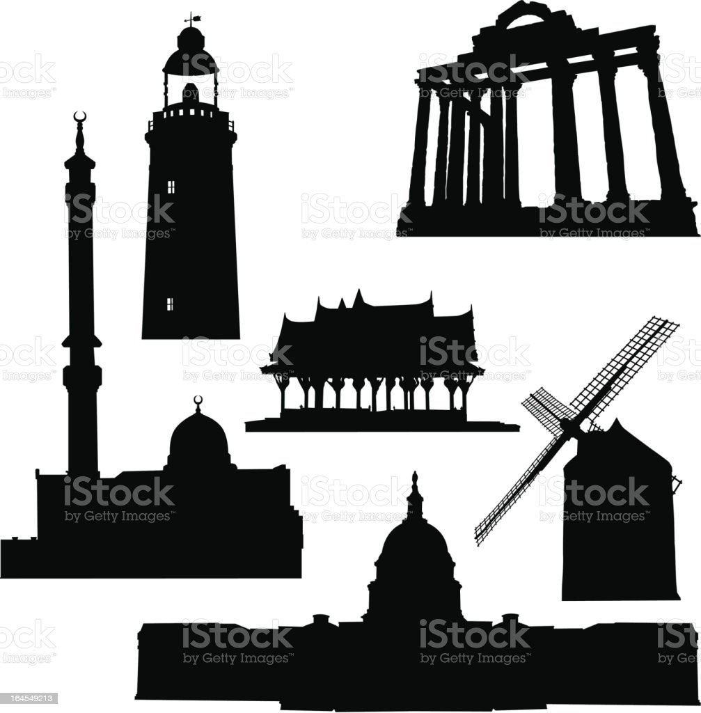 Structures royalty-free stock vector art