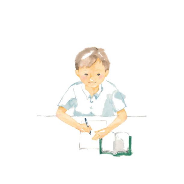 illustrazioni stock, clip art, cartoni animati e icone di tendenza di studiare - esame maturità
