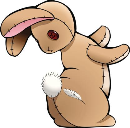 Stuffed Bunny with a Torn Tush
