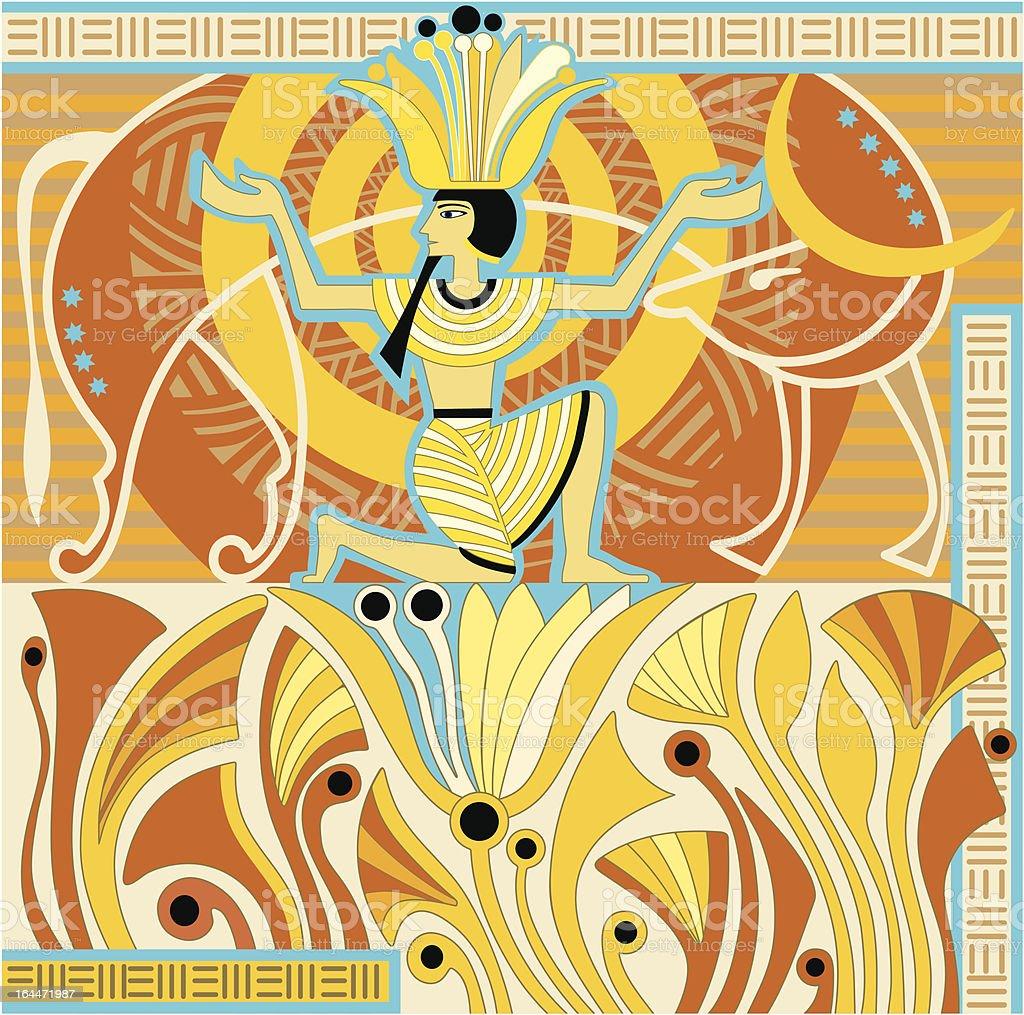 Style of Ancient Egypt vector art illustration