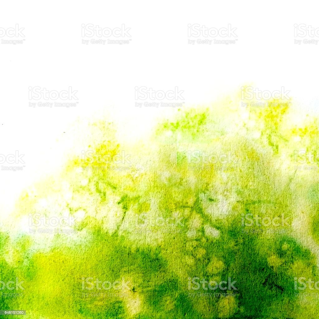 Stylish and harmonious watercolor texture. The green mood of spring, blooming, harmony and joy. vector art illustration