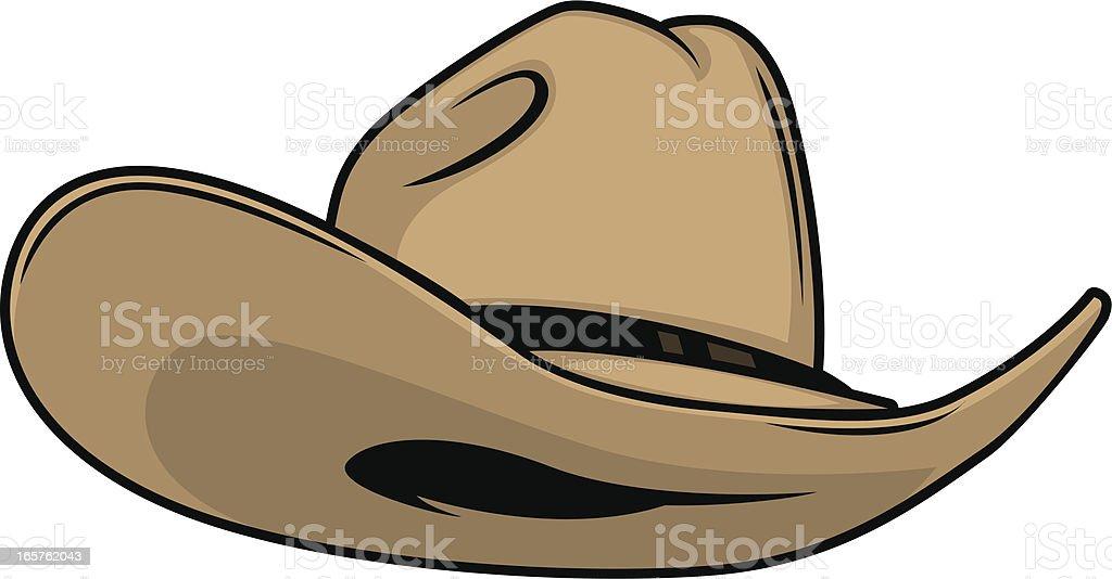 stylish cowboy hat vector art illustration