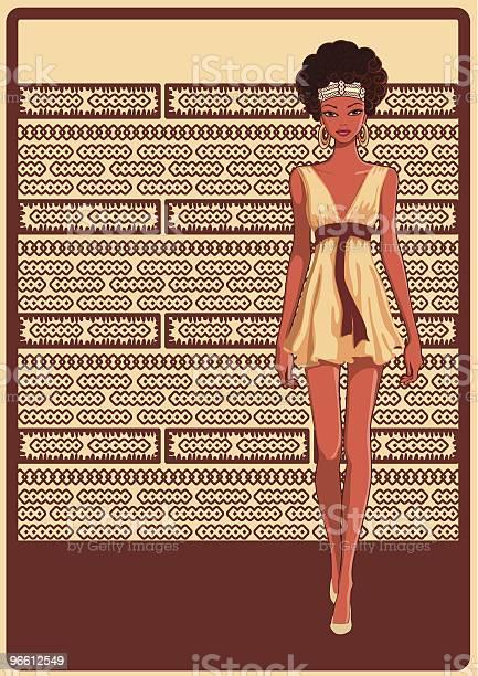 Стильные Девушка — стоковая векторная графика и другие изображения на тему Африканская этническая группа