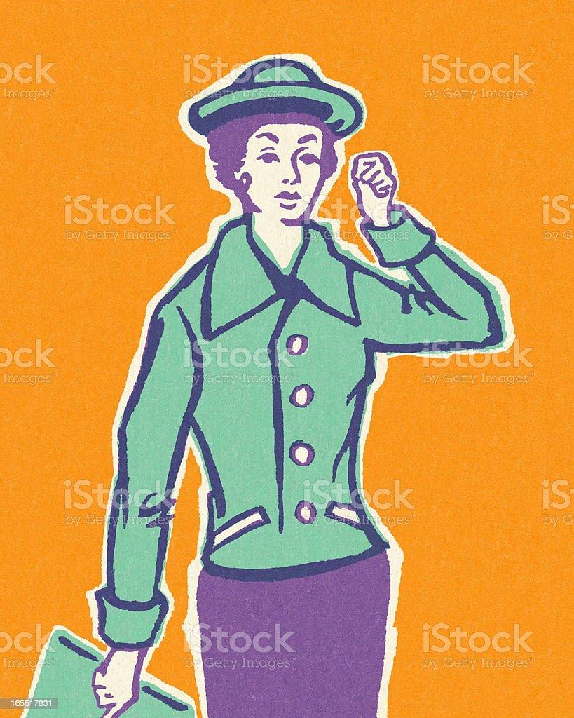 Stylish Lady royalty-free stylish lady stock vector art & more images of adult