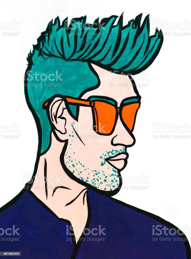 Stylish man vector art illustration