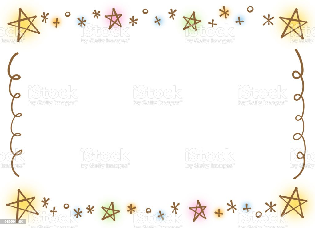 A stylish star frame like a pen vector art illustration
