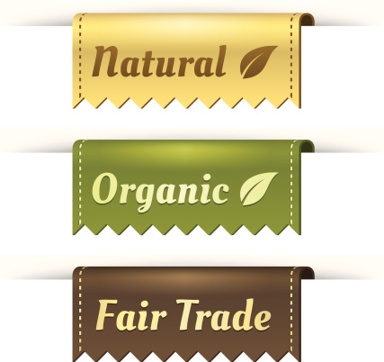 Stylish Tag Labels For Natural Organic And Fair Trade Stock