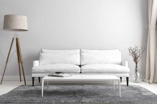 Stylized 3D Living Room Sketch