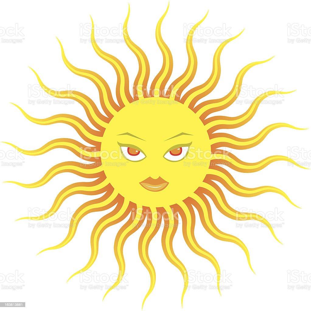 Stilizzato Fumetto Di Volto Femminile Con Occhiali Da Sole