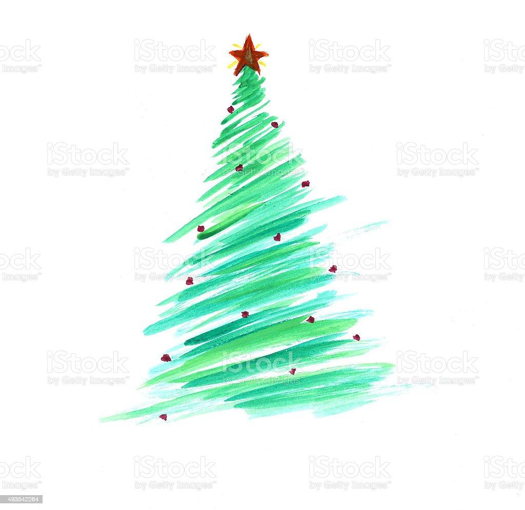Albero Di Natale Stilizzato.Stilizzato Con Decorazioni Albero Di Natale Colorato Immagini Vettoriali Stock E Altre Immagini Di 2015 Istock