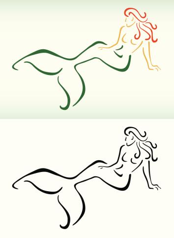 Stylized Mermaid