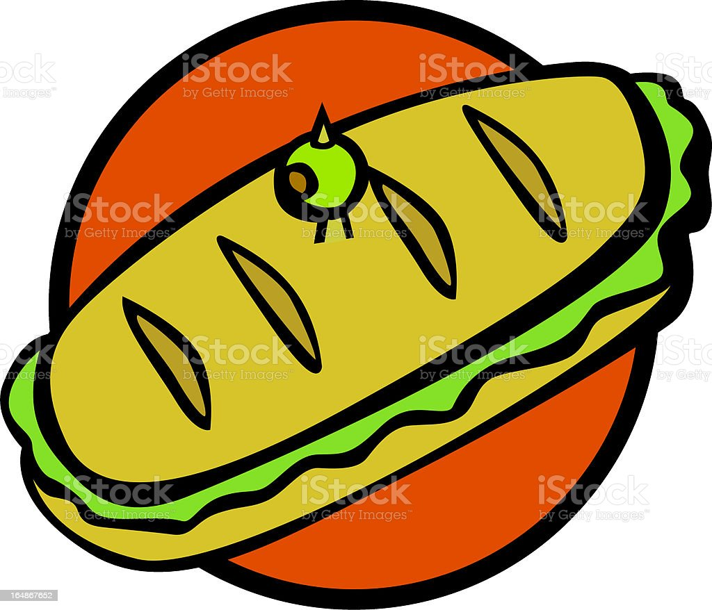 sub style sandwich royalty-free stock vector art