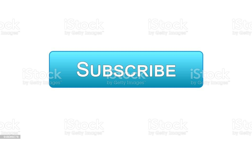 Abonnieren Web Schnittstelle Taste Blaue Farbe Soziale Netzwerke ...