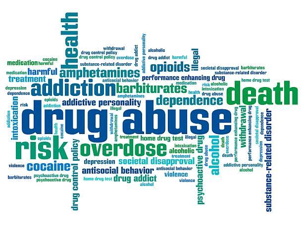 stockillustraties, clipart, cartoons en iconen met substance abuse word cloud colors - amfetamine