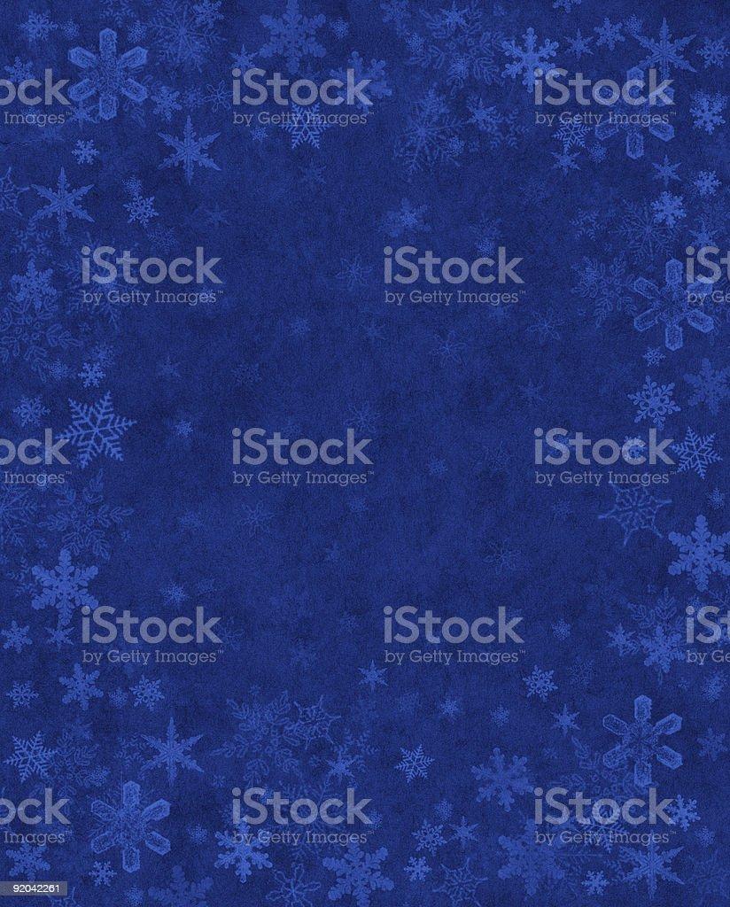Subtle Snow on Blue royalty-free stock vector art