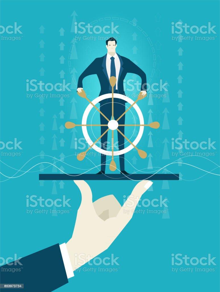 e3d6f9a29b8 Ilustração de Empresários Bem Sucedidos Segurando Pela Mão Humana ...