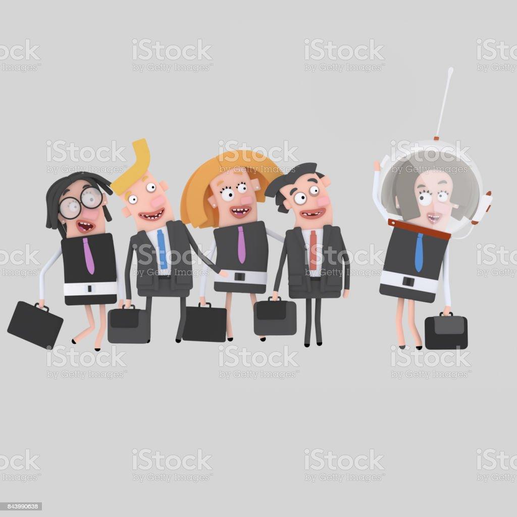 Éxito los empresarios - ilustración de arte vectorial