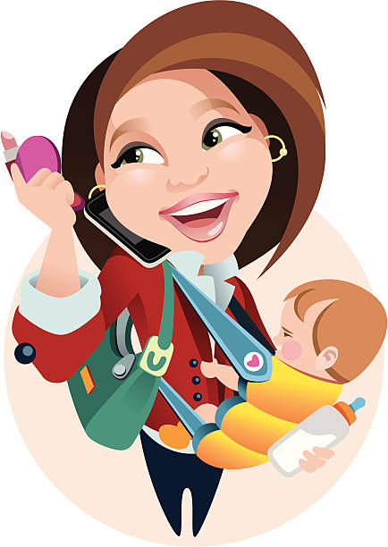 illustrations, cliparts, dessins animés et icônes de réussie mère active - femmes actives