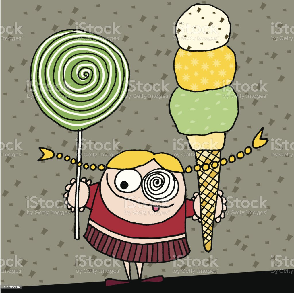 Sugar freak royalty-free sugar freak stock vector art & more images of blond hair