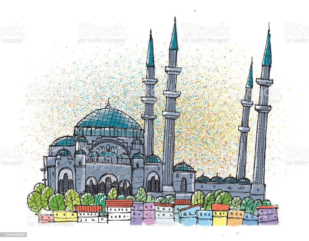 Suleymaniye Camii Stok Vektor Sanati Boya Boyamak Nin Daha Fazla