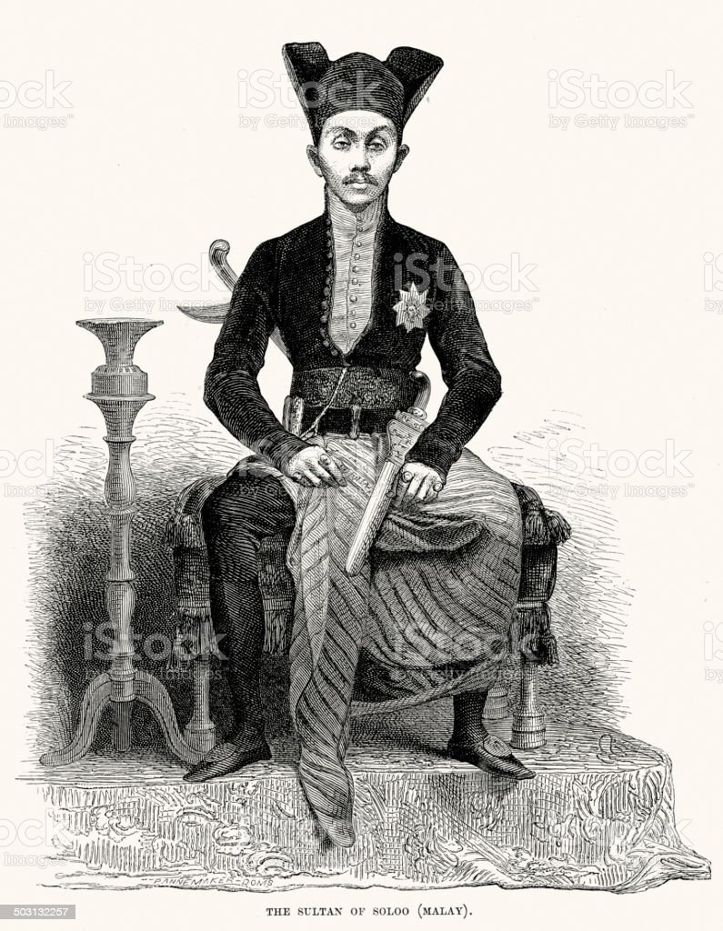 Sultan of Soloo royalty-free sultan of soloo stock vector art & more images of 19th century