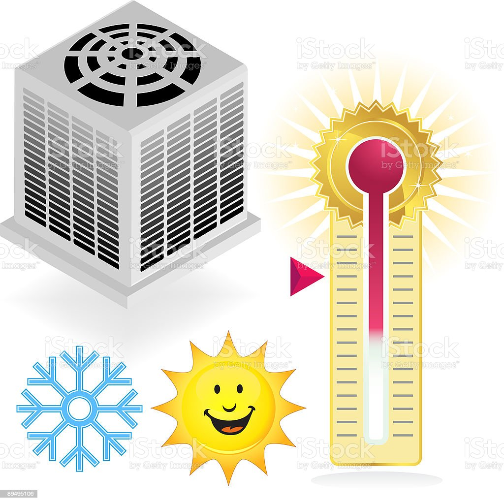 Summer Air Conditiong Icon Set royalty-free summer air conditiong icon set stock vector art & more images of air conditioner