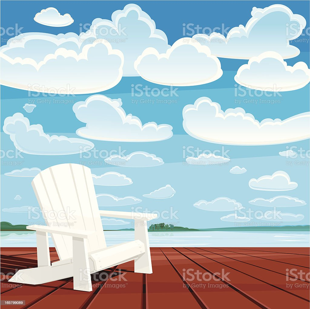 Summer Background (Muskoka Chair) vector art illustration