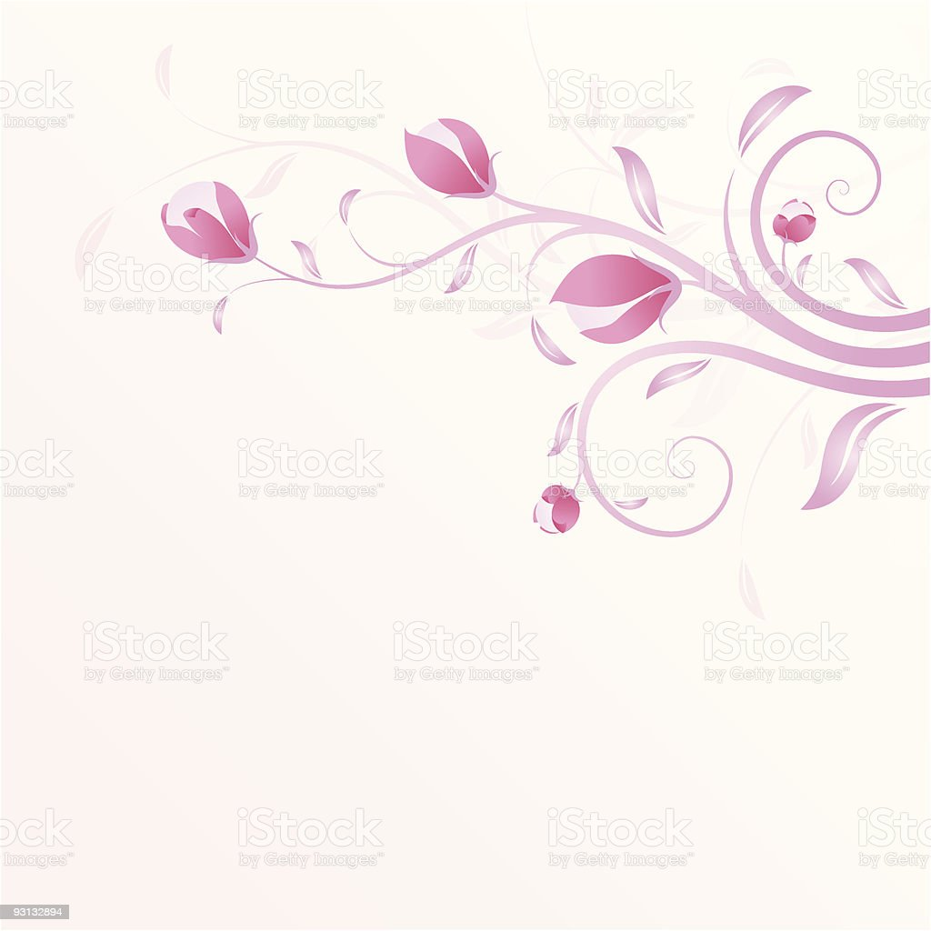 Summer background in pink royalty-free stock vector art